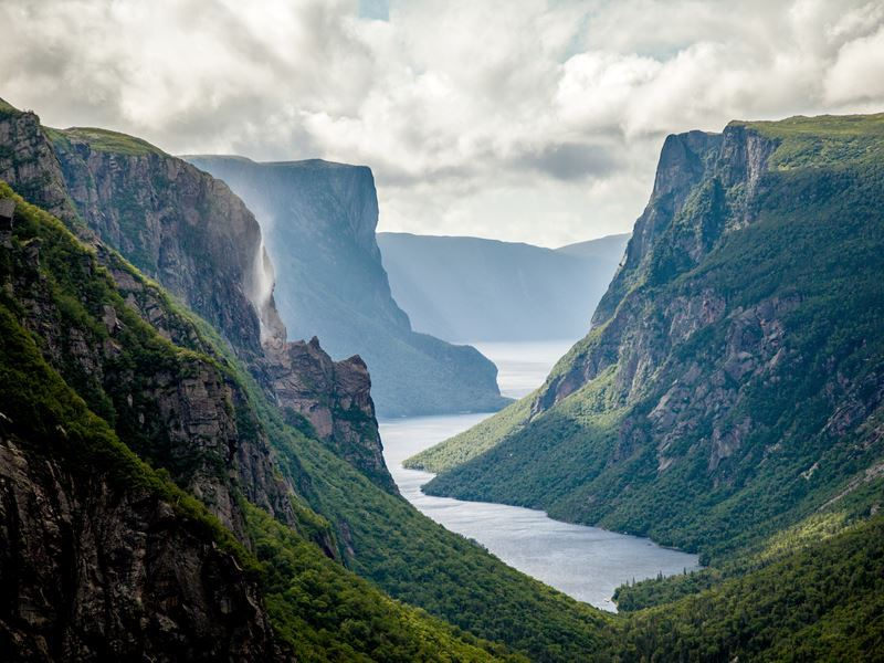 western brook pond fjord gros morne national park