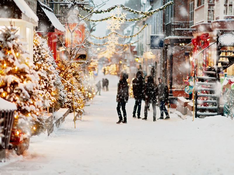 Winter in Old Quebec City