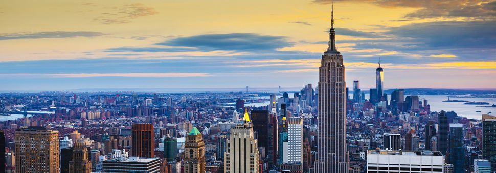 Manhattan skyline and Empire State Building, NYC
