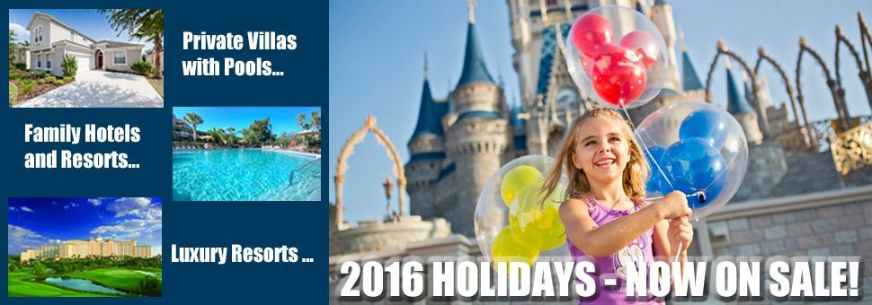 2016 Orlando holidays now on sale