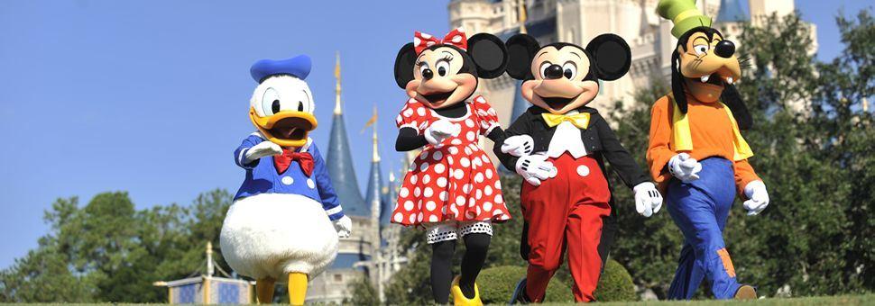 Disney characters at Walt Disney World Resort