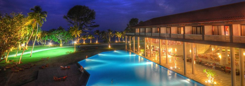 Night time at All Inclusive hotel Cinnamon Bey Beruwala, Sri Lanka