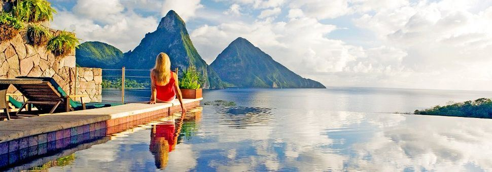 Enjoy the Piton views on your adult only holiday in St Lucia