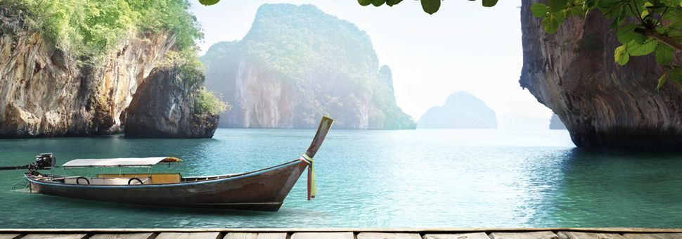 Thai longboat in the Andaman Sea
